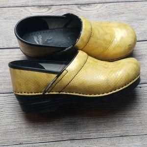 Yellow Dansko Clogs